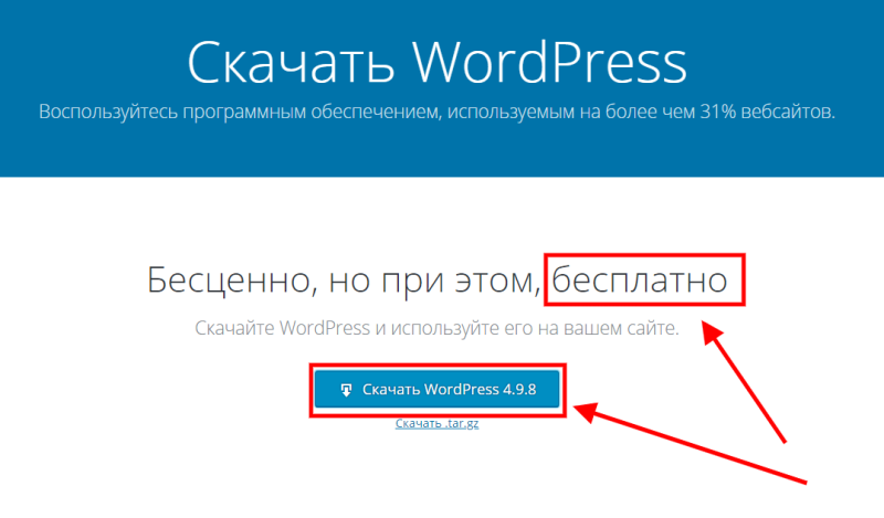 Блог на wordpress