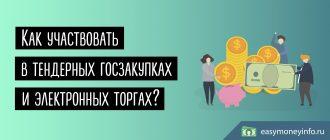Как участвовать в тендерных госзакупках и электронных торгах (начинающим)
