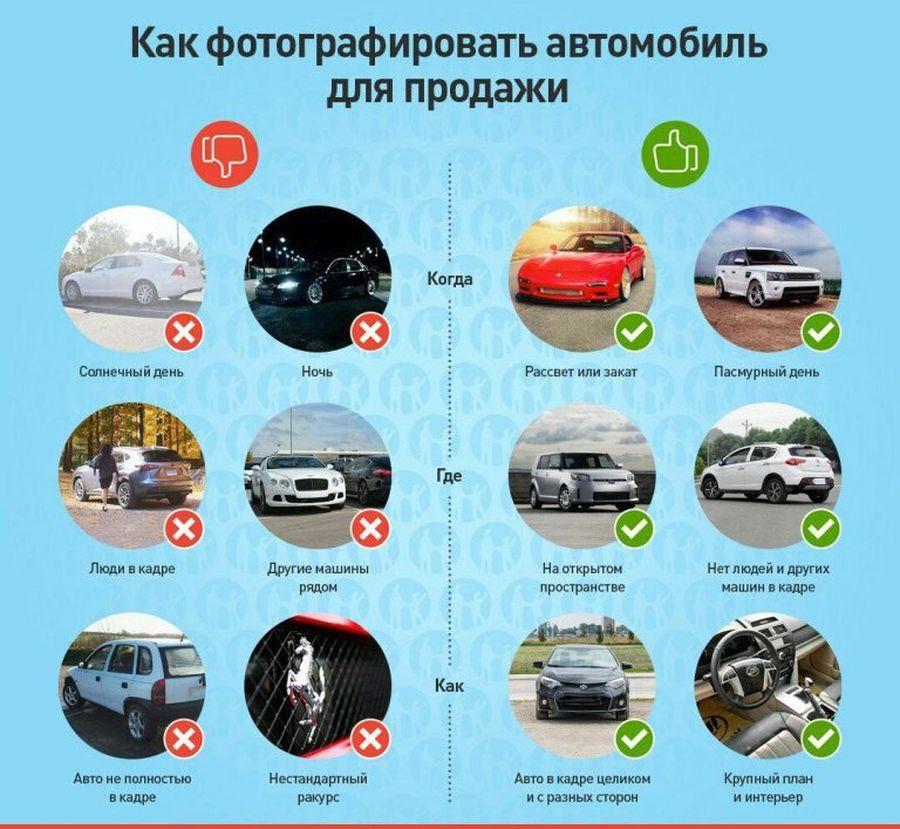 Как сфотографировать авто для продажи